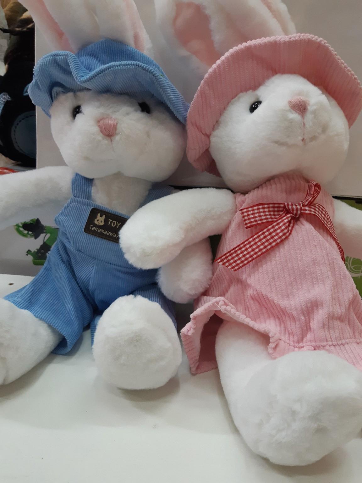 Белый зайчик (мальчик и девочка)