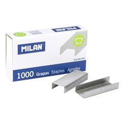 Скобы для степлера №24/6 Milan никелированные (1000 штук в упаковке)