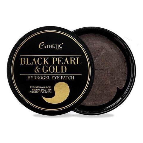 Esthetic House Патчи для глаз черный жемчуг/золото Black Pearl & Gold Hydrogel Eye Patch 60 шт