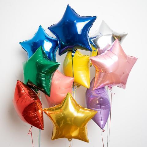 сет воздушных шаров яркие звезды