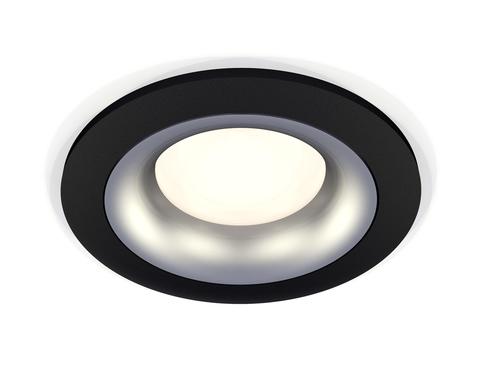 Комплект встраиваемого светильника XC7622004 SBK/MCH черный песок/хром матовый MR16 GU5.3 (C7622, N7013)