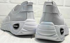 Спортивные туфли кроссовки женские белые на лето Wollen P029-259-02 All White.