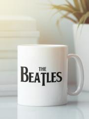 Кружка с надписью Битлз (The Beatles) белая 009
