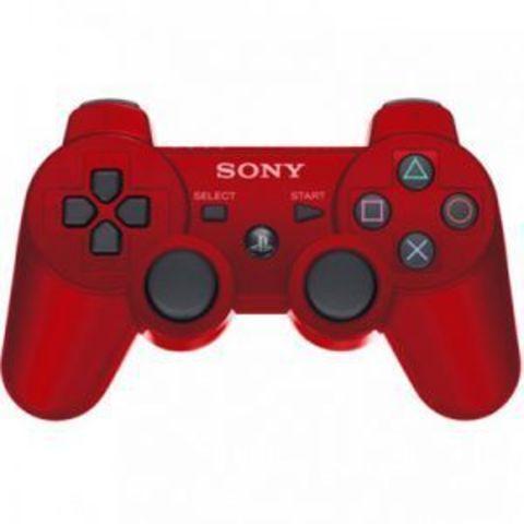 Беспроводной контроллер DualShock 3 (красный, под оригинал - точная копия)
