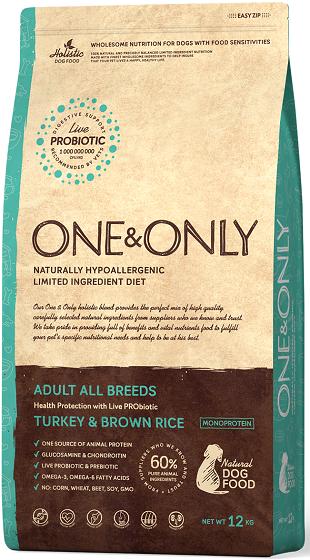 Сухой корм Корм для взрослых собак всех пород, ONE&ONLY Turkey & Rice Adult All Breeds, с индейкой и рисом Индейка_с_рисом_от_года.png