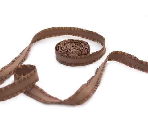 Кружевная резинка,13 мм,шоколад