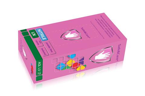 *Перчатки смотровые (Чистовье/Safe s Care/ фиолетовый/нитриловые/неопудренные/М/100шт/LN309/601-771