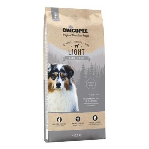Chicopee CNL Light Lamb & Rice сухой облегченный корм для взрослых собак всех пород с ягненком и рисом, 15 кг.
