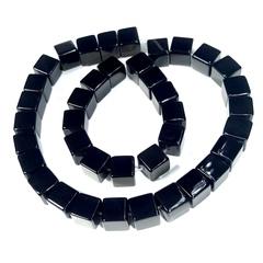 Бусины оникс черный Куб 10 мм