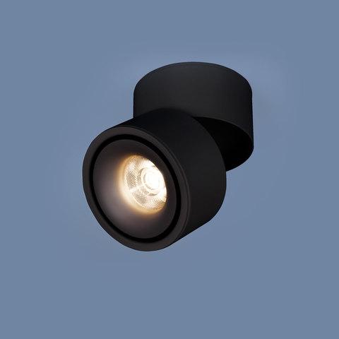 Накладной потолочный  светодиодный светильник DLR031 15W 4200K 3100 черный матовый