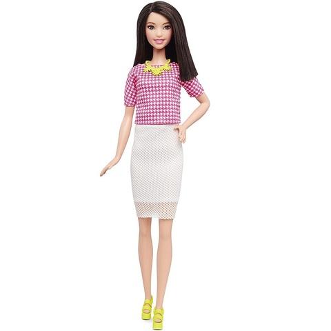 Барби Fashionistas 30 Розово-Белая Гусиная Лапка