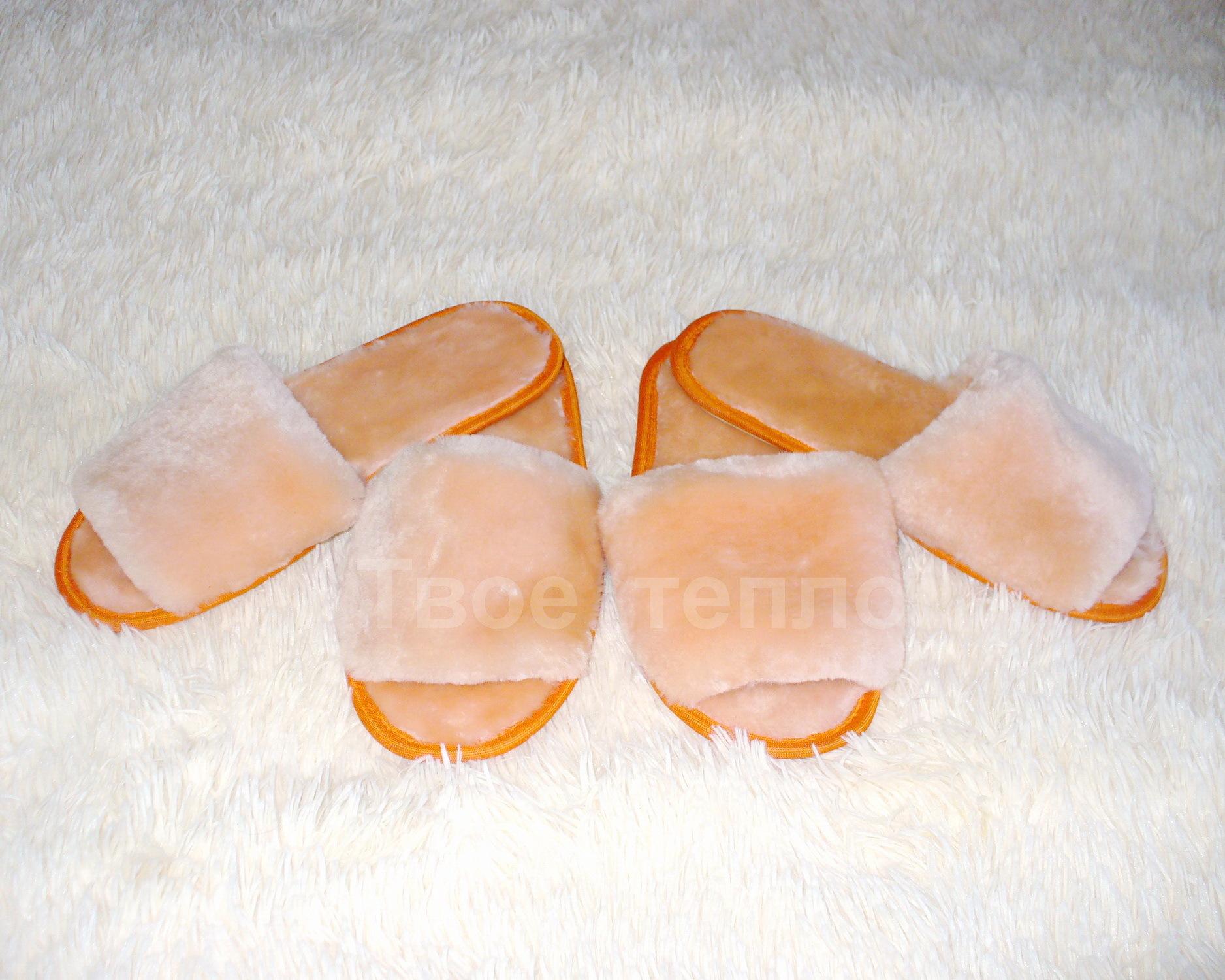 Женские тапочки шлепки с открытым носом