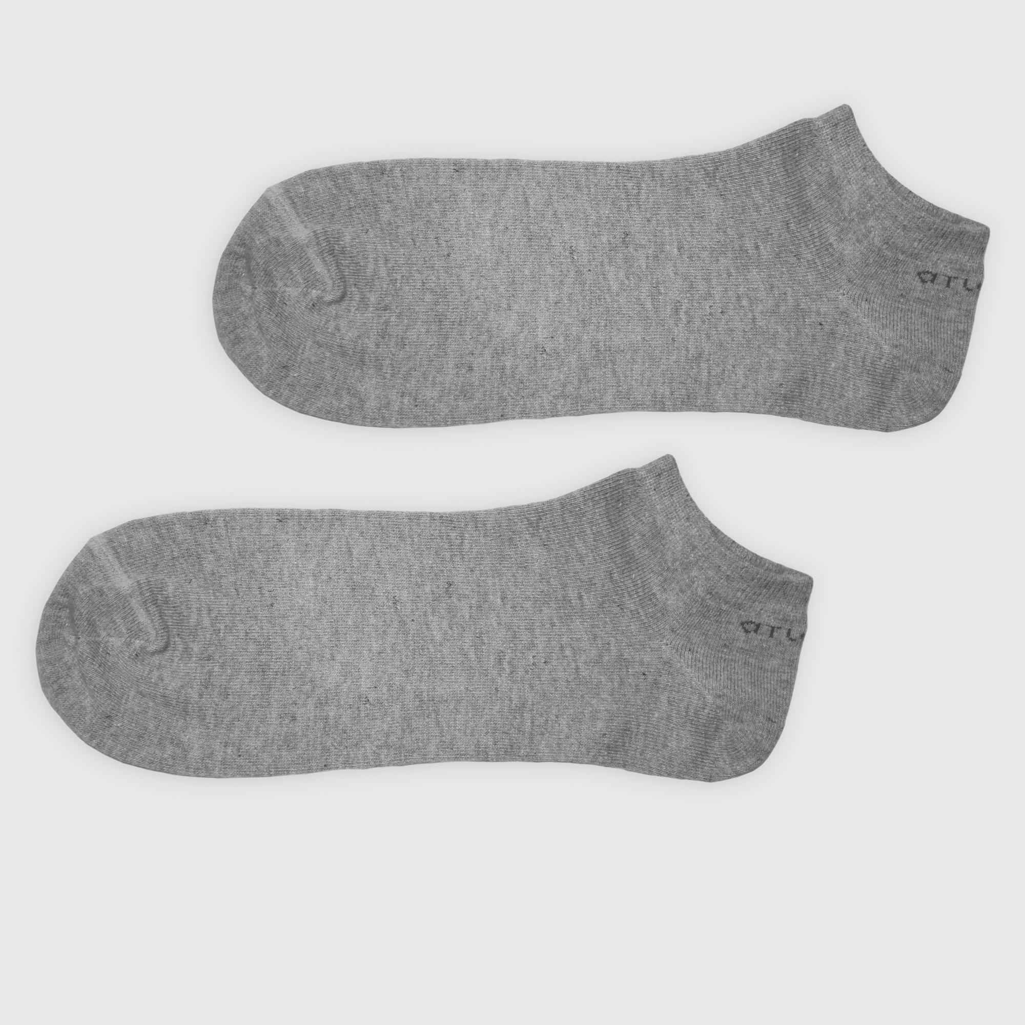 Укороченные носки мужские Atlantic, 3 пары в уп., бамбук, серый меланж, MSB-002