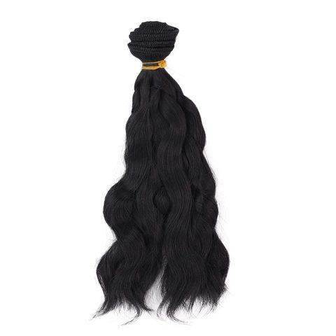 Волосся для ляльки Let's make хвилясте, треси 25 см. Чорні
