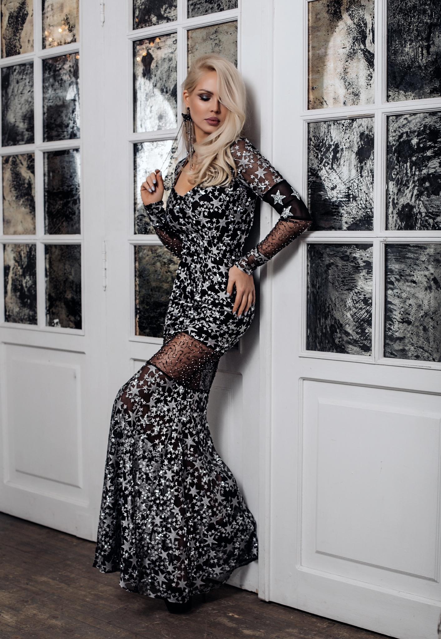"""Платье с принтом """"Silver Star"""""""