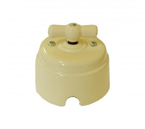 Выключатель керамический 1-2 клавишный (песочный)
