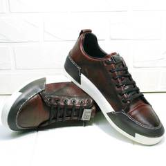 Модные мужские кроссовки на каждый день Luciano Bellini C6401 MC Bordo.