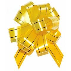 Бант-шар Золотое сечение. 5 см х 144 см, жёлтый, 1 шт.