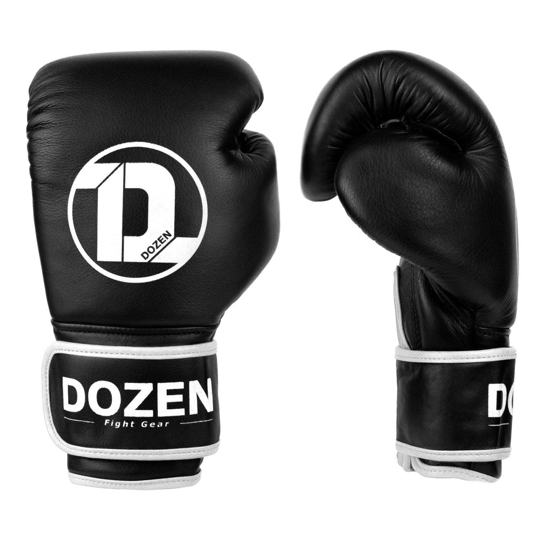 Боксёрские перчатки Dozen Monochrome Black/White вид сбоку