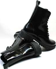 Женские ботинки на низком ходу зимние Ari Andano 740 All Black.