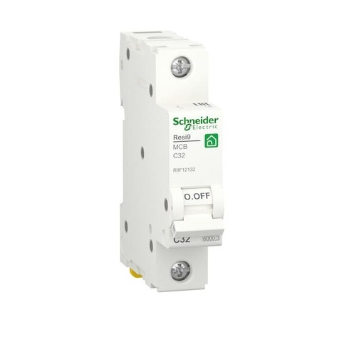Автоматический выключатель 1P - 32 A тип C 1 модуль 230 В~. Schneider Electric Resi9. R9F12132