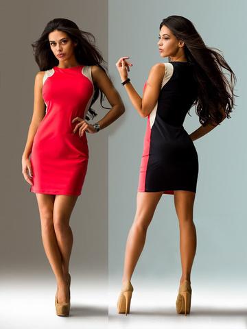Короткое летнее платье, цвет розовый