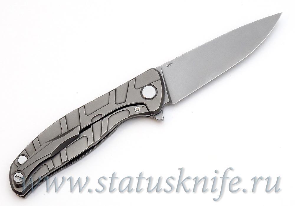 Нож Широгоров Флиппер 95 S90V S узор T подшипники - фотография