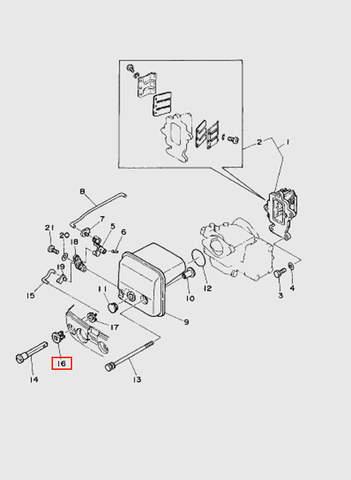Втулка ручки подсоса  для лодочного мотора T15, OTH 9,9 SEA-PRO (4-16)