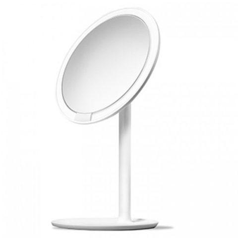 Зеркало косметическое настольное Xiaomi Amiro Lux High Color (AML004W) с подсветкой (Белое)