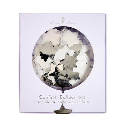 Воздушные шары с конфетти, серебро