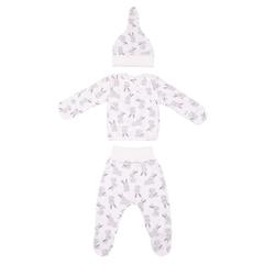 Mini Fox. Комплект для новорожденных 3 предмета, зайцы серые вид 1