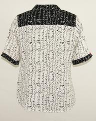 Блузка HAT рубашка карман письмо к/р