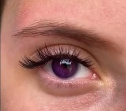 Оттеночные цветные линзы для Светлых глаз Marquise solo violet (фиолетовый)