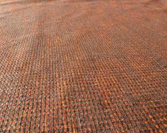 Рогожка Фэнси Азур оранжево-коричневая