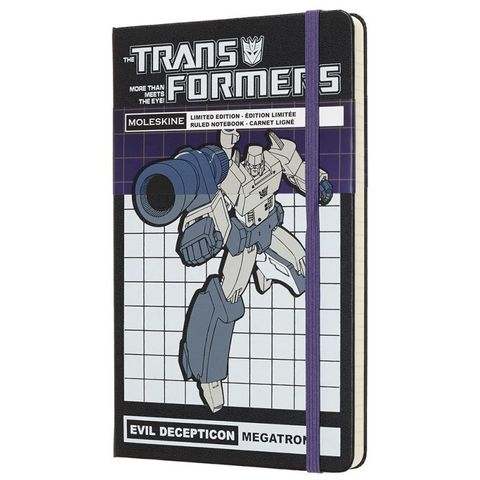 Блокнот Moleskine Limited Edition TRANSFORMERS LETFQP060MT Large 130х210мм 240стр. линейка MEGATRON