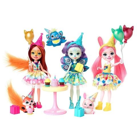 Набор из 3 кукол на день рождения Энчантималс