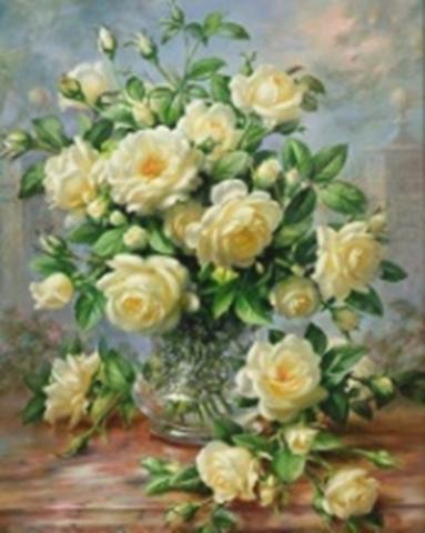 Картина раскраска по номерам 30x40 Букет желтых роз (арт. KTL0004)