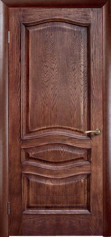 Дверь Green Plant Леона (Патина Голд, глухая, массив сосны)