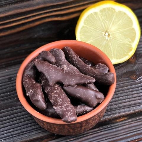 Фотография Лимонная корочка в темном шоколаде / 250 гр купить в магазине Афлора
