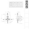 Встраиваемый термостатический смеситель для душа TZAR 348712SOC золотой, на 2 выхода - фото №2