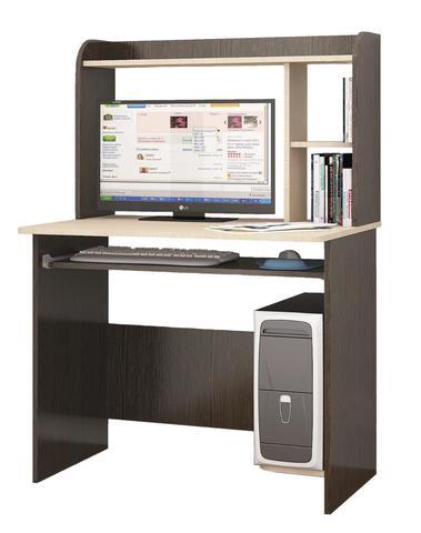 Компьютерный стол Грета-2 дуб молочный