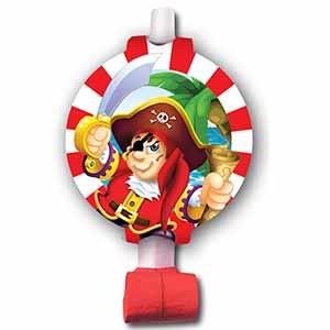 Язычок-гудок с карточкой Веселый Пират 6шт