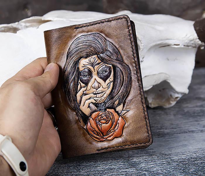 BC169 Обложка в стиле мексиканского Дня Мертвых, ручная работа фото 05