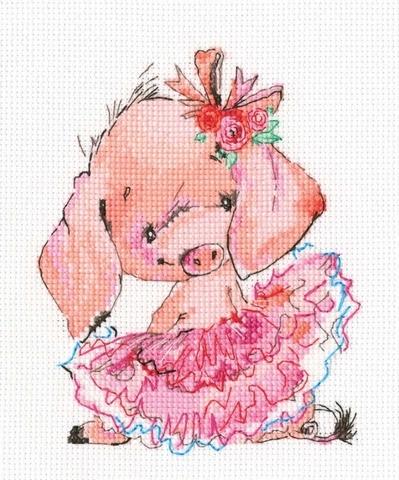 Розовая балерина