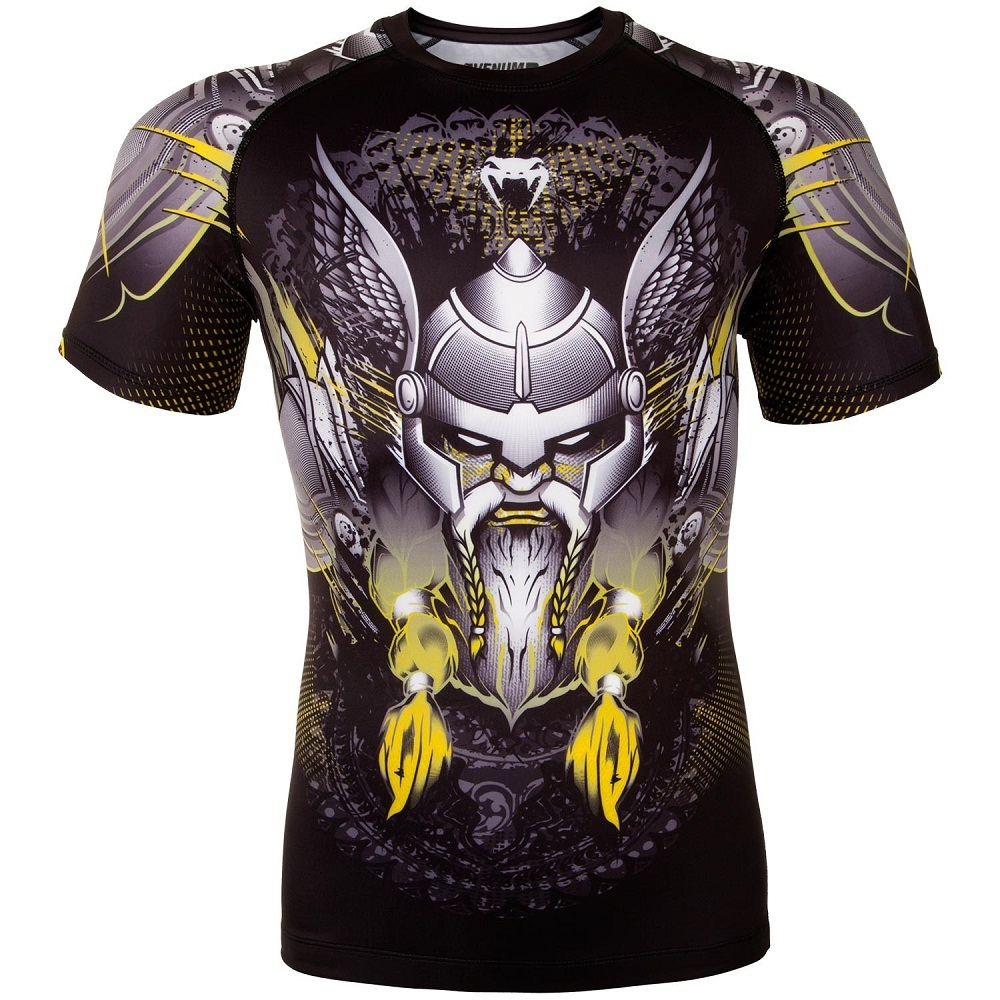 Термобелье/Рашгарды Рашгард Venum Viking 2.0 Rashguard Short Sleeves - Black/Yellow 1.jpg
