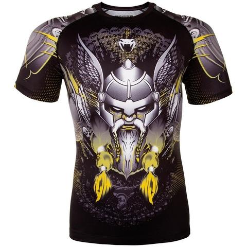 Рашгард Venum Viking 2.0 Rashguard Short Sleeves - Black/Yellow