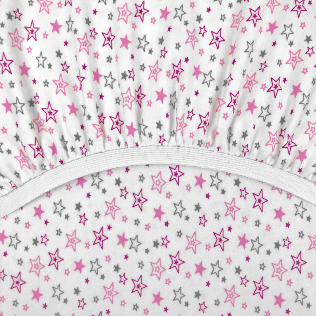 PREMIUM звездопад - Детская простыня на резинке 60х120