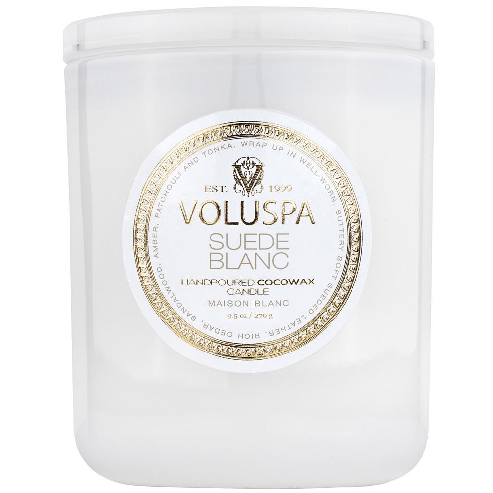 Свечи Ароматическая свеча 270г в подарочной коробке Voluspa Светлая домашняя коллекция Белая замша full_8101-1.jpg