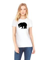 Футболка с принтом Медведь, Медвежонок (Bear) белая w006