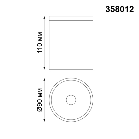 Уличный потолочный светодиодный светильник 358012 серии TUMBLER
